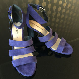 Purple Suede Heels by Via Spiga – Size 9.5